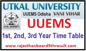 UUEMS Time Table 2020