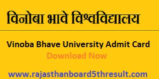 Vinoba Bhave University Admit Card 2020