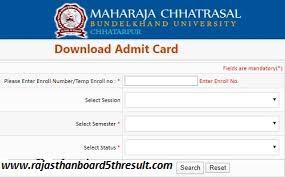 MCBU Chhatarpur Admit Card 2020