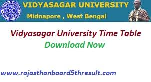 Vidyasagar University Time Table 2020