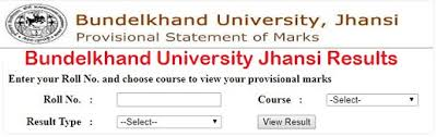 BU Jhansi BSC Result 2020