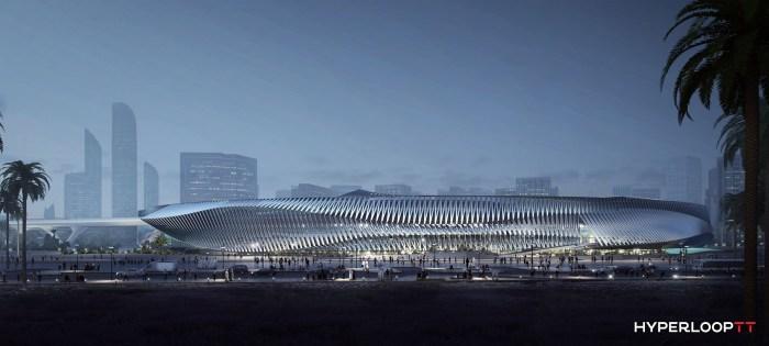 Hyperloop TT Train Station - Image from Hyperloop TT Press Kit