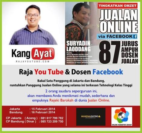 Workshop Youtube Marketing, Pembicara Internet Marketing, Pembicara Youtube Marketing, Workshop Facebook Marketing