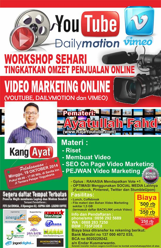 Brosur Workshop Yogyakarta Oktober, Ayatullah Fahd, 081321128490