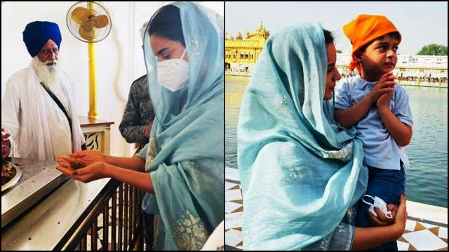 kangana-ranaut-arrived-sri-harmandir-sahib-after-recovering-from-covid-19