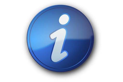 Ikonografia prezentująca literę na niebieskiem okrągłym tle