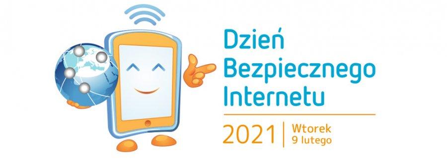 Baner informujący o Dniu Bezpiecznego Internetu który miał miejsce we wtorek 9 luty 2021