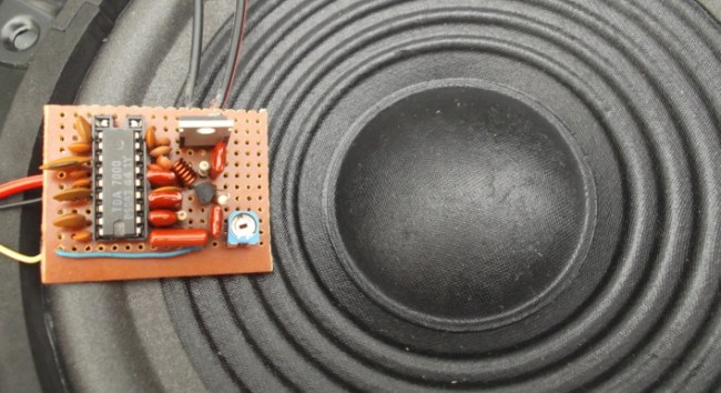 Circuit Audio Amplifer With Ic Tda 1521