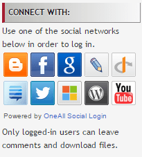 Now Log In Using Your Favourite Social Network
