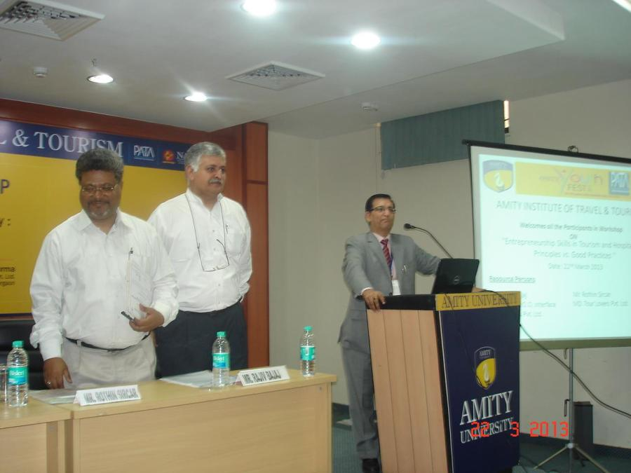 Rajiv Bajaj At Amity University Noida, Deptt of Tourism & Hospitality
