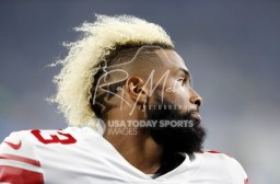 Aug 17, 2018; Detroit, MI, USA; New York Giants wide receiver Odell Beckham (13) turns his head while running before the game against the Detroit Lions at Ford Field. Mandatory Credit: Raj Mehta-USA TODAY Sports
