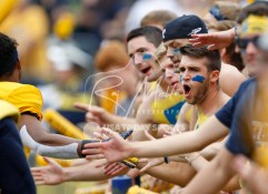 Sep 15, 2018; Toledo, OH, USA; Toledo Rockets student section gets pumped up before the game against the Miami Hurricanes at Glass Bowl. Mandatory Credit: Raj Mehta-USA TODAY Sports