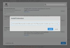 Installing Extension