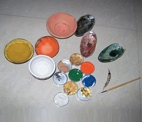 Materials Color in shells