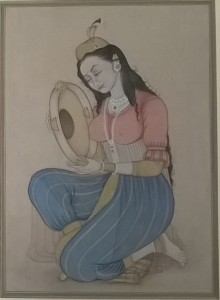 Mughal Lady with instrument moo6