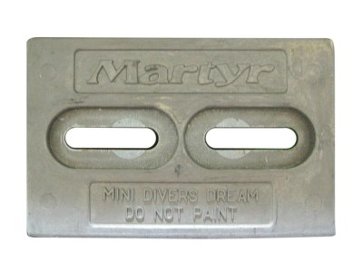 Martyr Anodes Zinc 6 in. x 4 in. Mini Divers Dream Hull Anode
