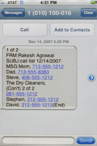my call list on my iphone