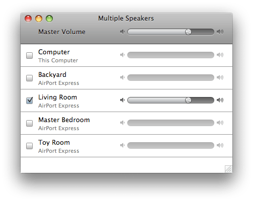 New volume control per zone in iTunes 10 Airplay