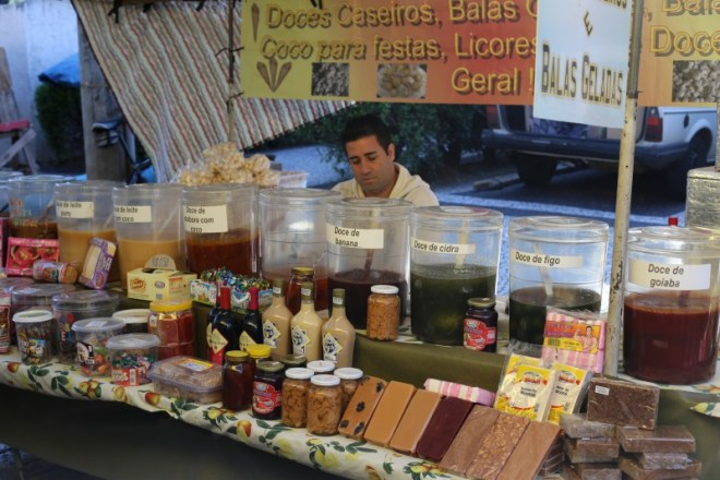 Juice stall in the Saturday open market in Campinas