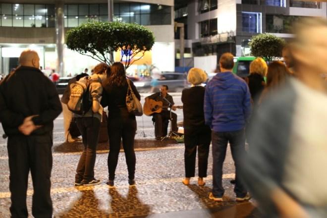 Street performer on Paulista