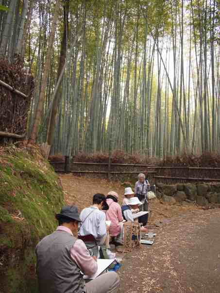 Artists in Arashiyama