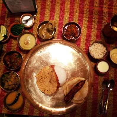 The Seafood Thali at Aaheli