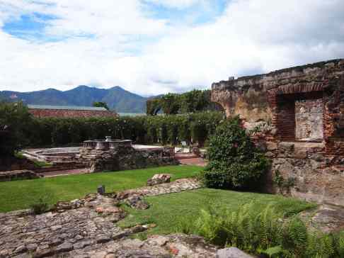 The grounds of Casa Santo Domingo