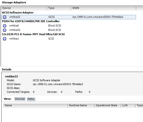 esx03 shared storage