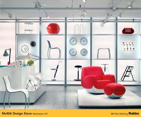 MoMa Design Store featuring Rakks BR Pole Shelving