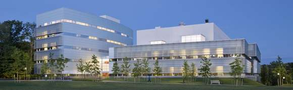 Exterior view of the Princeton Neuroscience Institute complex. Image courtesy of Princeton.