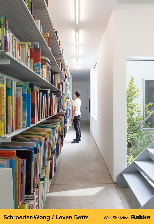 Schroeder-Wong Home featuring Rakks Wall-mounted Shelving
