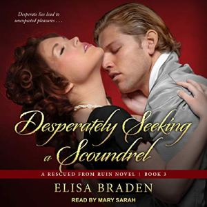 Desperately Seeking a Scoundrel audiobook cover art