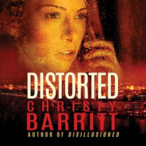 Distorted audiobook cover art
