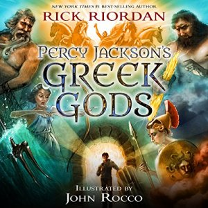 Percy Jackson's Greek Gods audiobook cover art