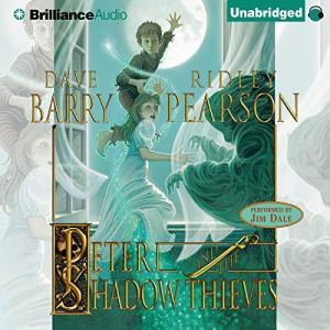 Peter and the Shadow Thieves audiobook cover art