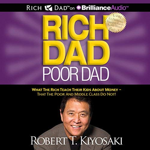 Rich Dad Poor Dad audiobook cover art