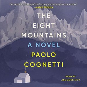 The Eight Mountains audiobook cover art