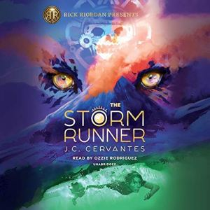 The Storm Runner audiobook cover art