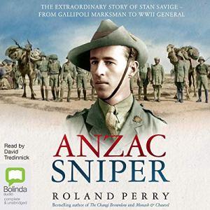 Anzac Sniper audiobook cover art