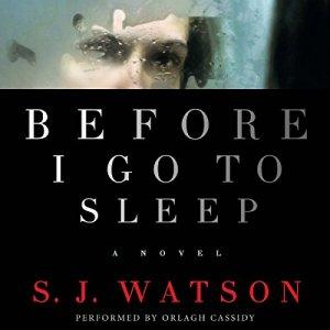 Before I Go to Sleep audiobook cover art