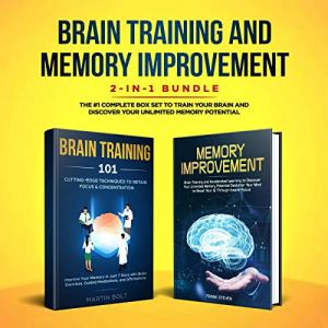 Brain Training and Memory Improvement 2-in-1 Bundle audiobook cover art