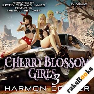 Cherry Blossom Girls 3: A Superhero Harem Adventure audiobook cover art