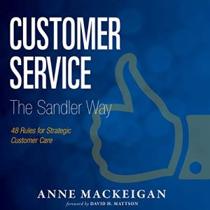 Customer Service: The Sandler Way audiobook cover art