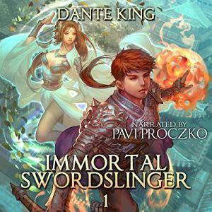 Immortal Swordslinger audiobook cover art