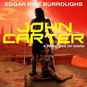 John Carter in 'A Princess of Mars' audiobook cover art