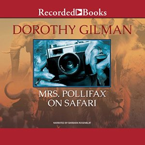 Mrs. Pollifax on Safari audiobook cover art