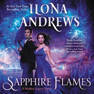 Sapphire Flames audiobook cover art