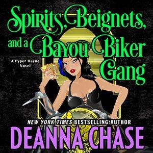 Spirits, Beignets, and a Bayou Biker Gang audiobook cover art