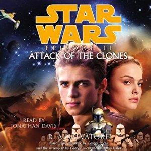 Star Wars Episode II audiobook cover art