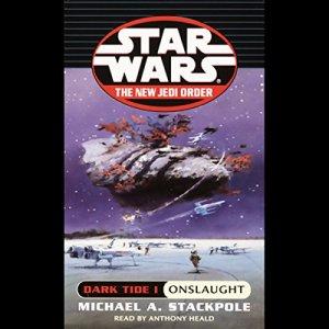 Star Wars: The New Jedi Order: Dark Tide I: Onslaught audiobook cover art